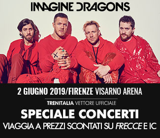 Trenitalia ti porta ai concerti di Imagine Dragons