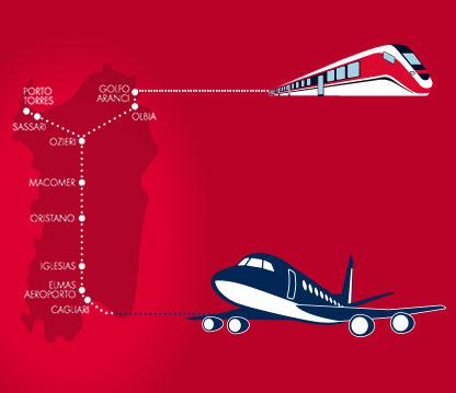 Cartina Sardegna Con Aeroporti.Sardegna In Treno Trenitalia