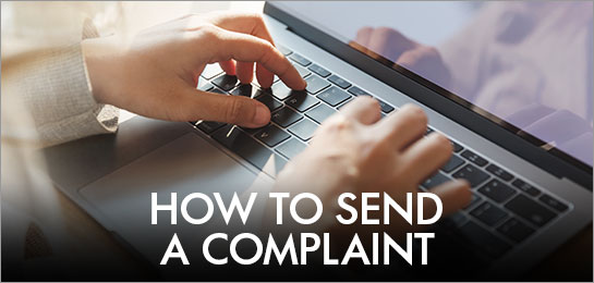 How to send a complaint