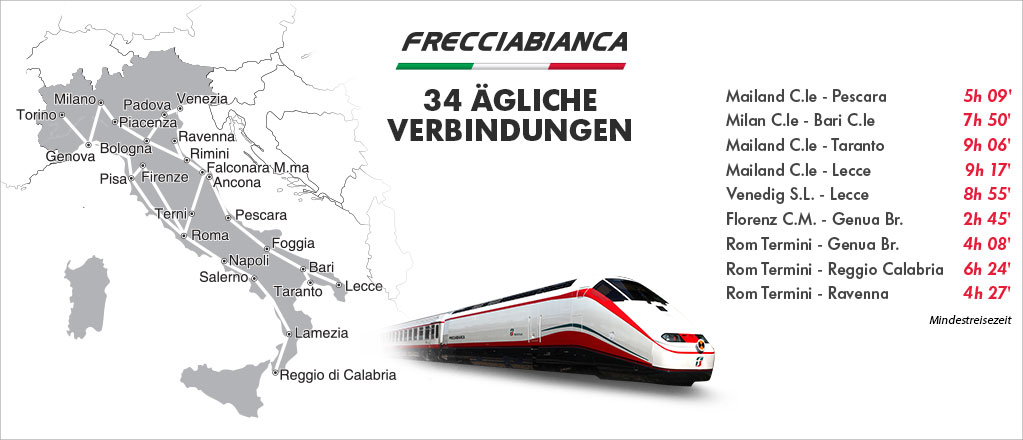 Frecciabianca Verbindungen Und Service Trenitalia
